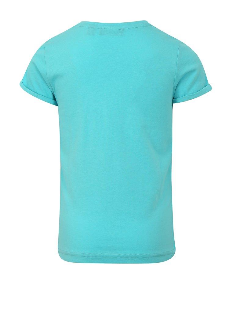 Světle modré holčičí tričko s nášivkou Blue Seven