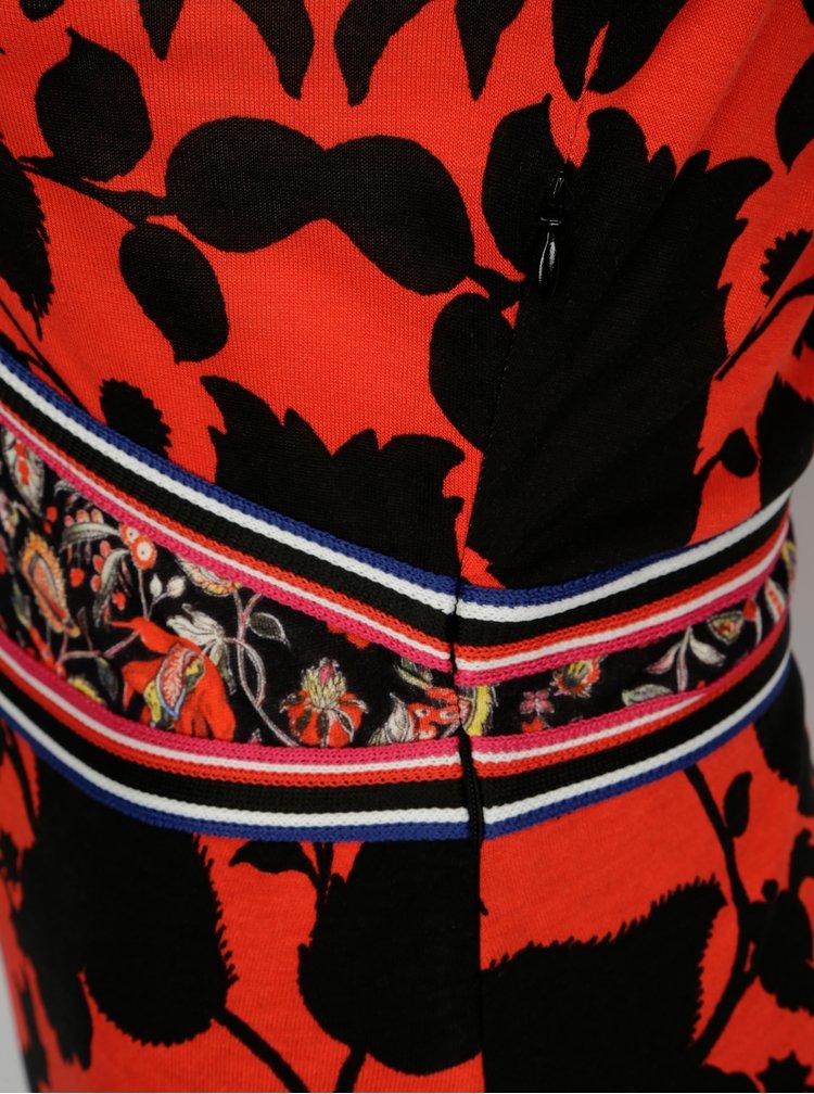 Černo-červené vzorované šaty Desigual Celestino