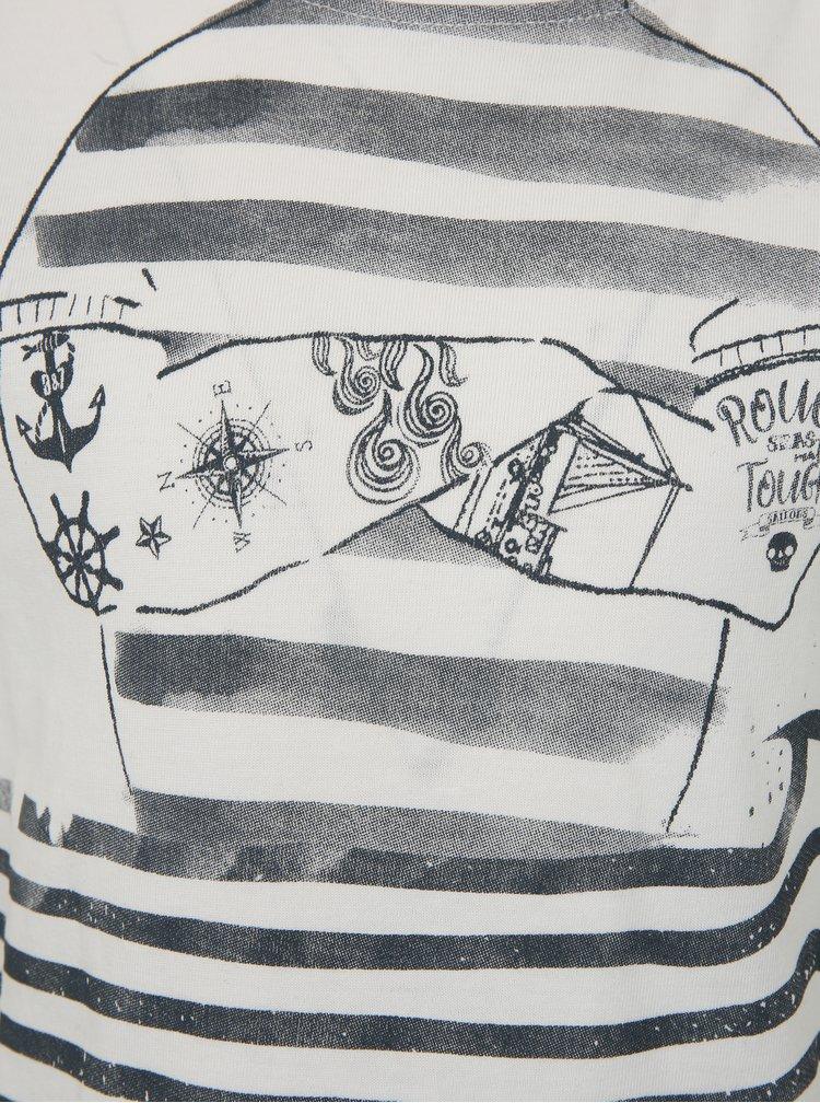 Bílé klučičí pruhované tričko Blue Seven