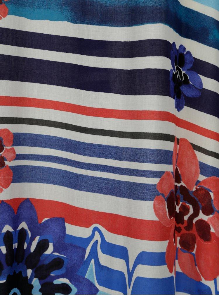 Modré pruhované maxišaty Desigual Flora