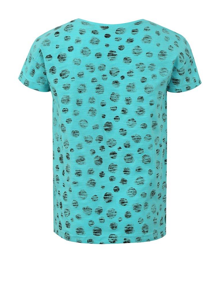 Modré holčičí puntíkované tričko s potiskem Blue Seven