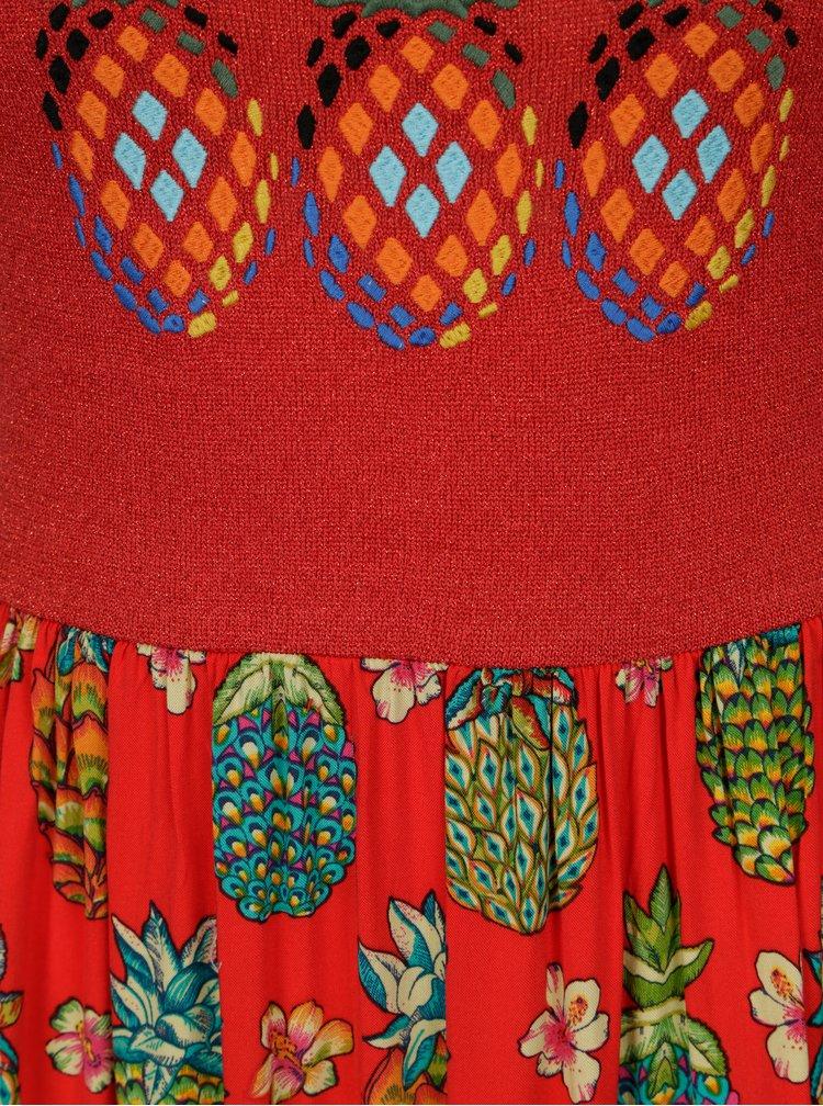 Červené vzorované maxišaty Desigual Bonita 3