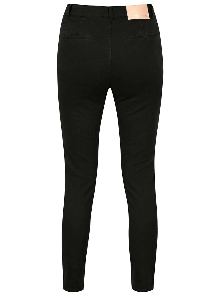 Černé zkrácené slim fit džíny Noisy May Lily