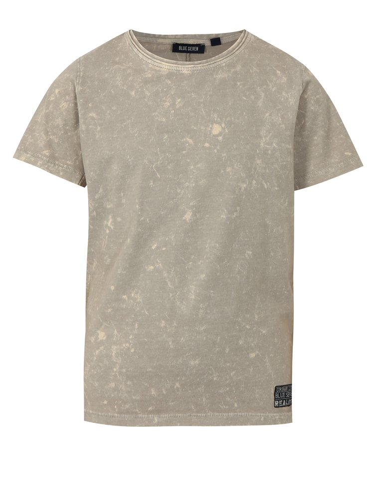 Béžové klučičí žíhané tričko s potiskem na zádech Blue Seven