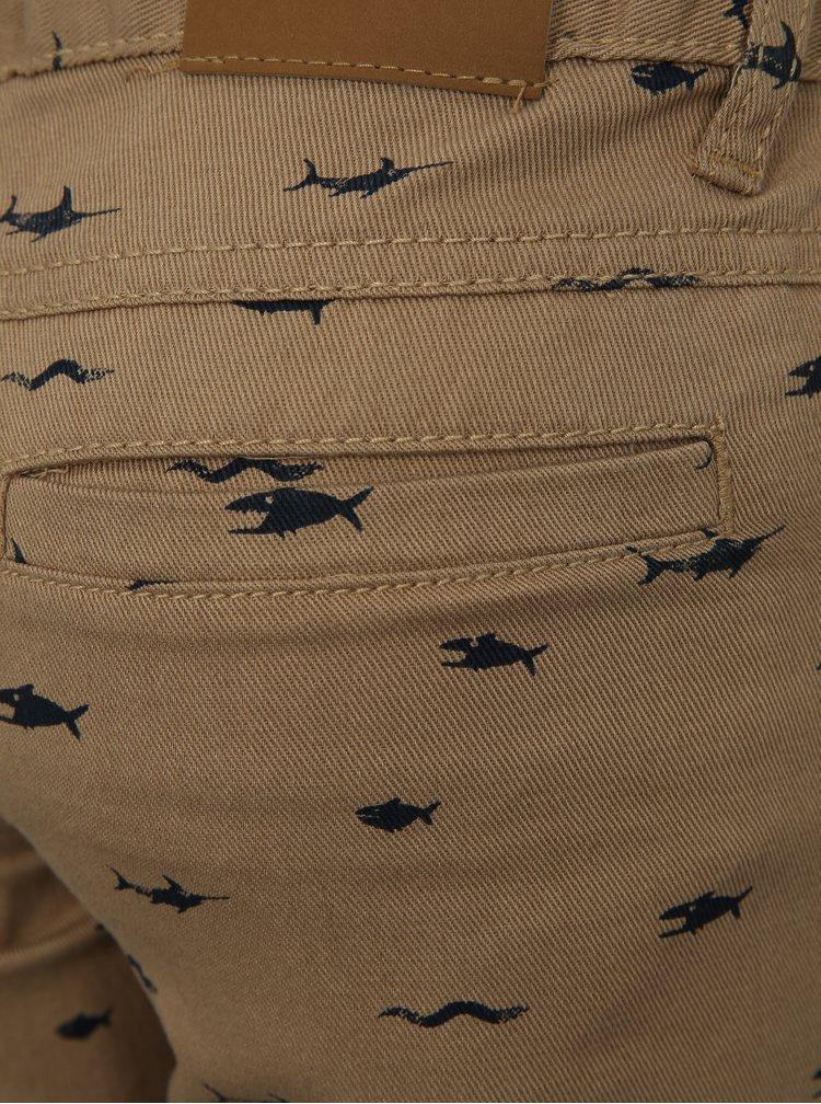 Béžové klučičí džínové kraťasy Blue Seven