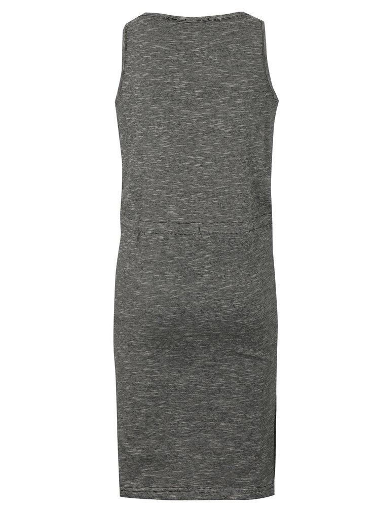 Černé holčičí žíhané šaty s potiskem Blue Seven