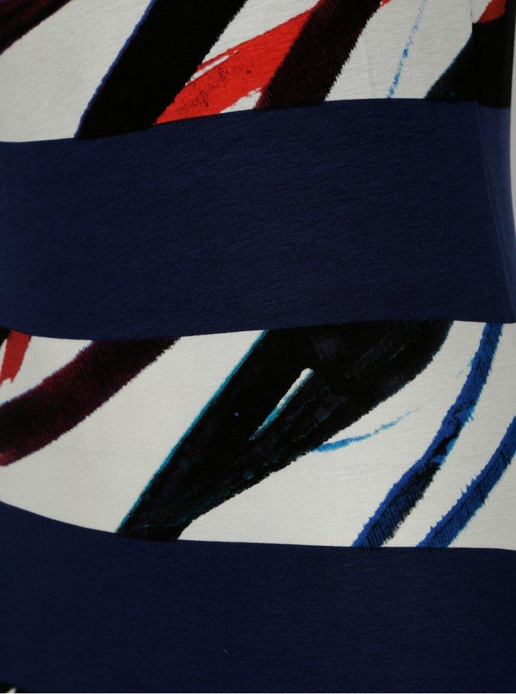 Bílo-modré pruhované maxišaty Desigual Felipe