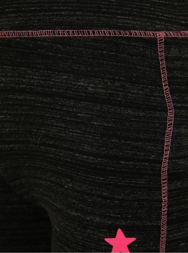 Černé holčičí žíhané kraťasy Blue Seven