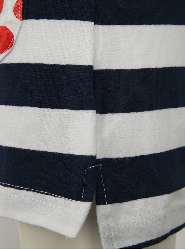 Modro-bílé holčičí pruhované šaty s kapsami Blue Seven