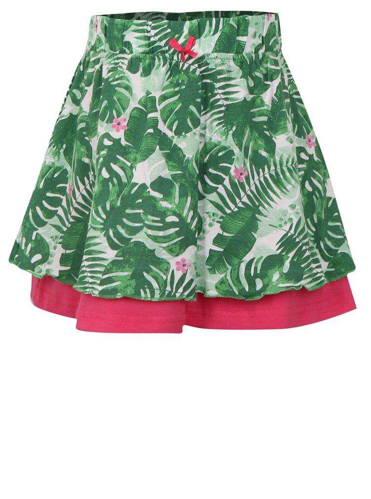 Zelená dievčenská vzorovaná sukňa Blue Seven