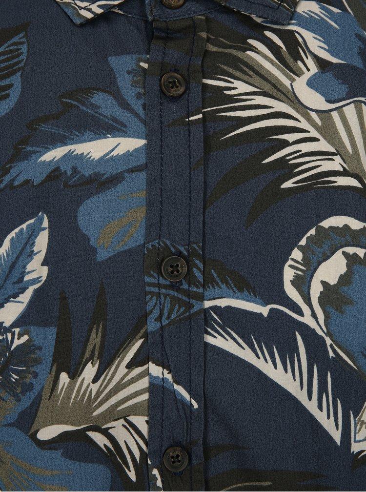 Tmavě modrá vzorovaná slim fit košile Blend