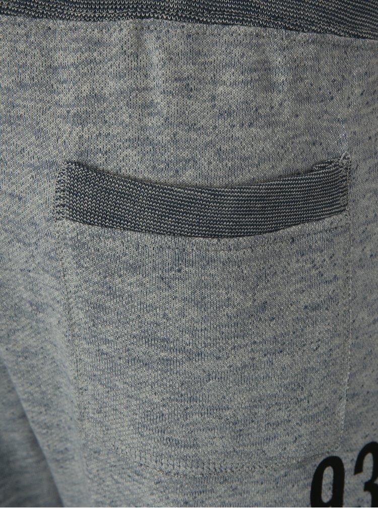 Modro-šedé žíhané tepláky Blend
