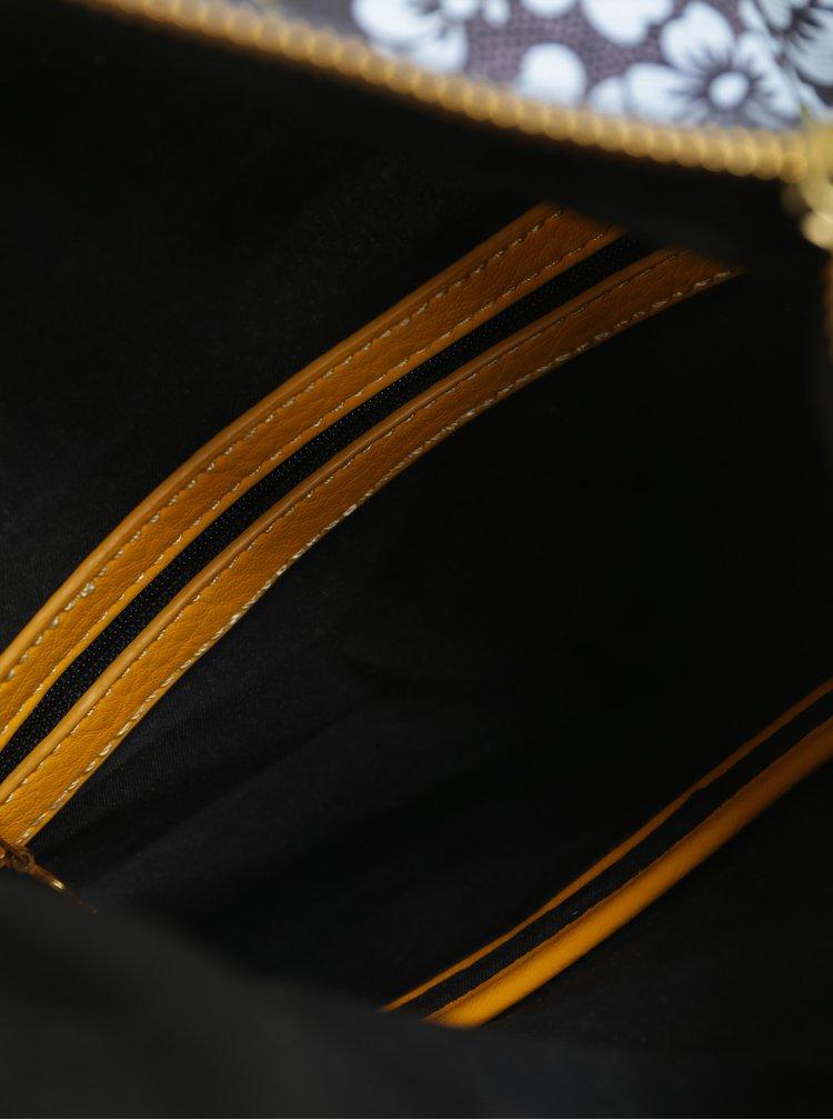 Černá vzorovaná crossbody kabelka Desigual Folded Paraiso