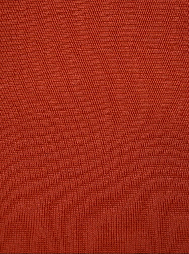 Cihlový žebrovaný slim fit svetr Blend