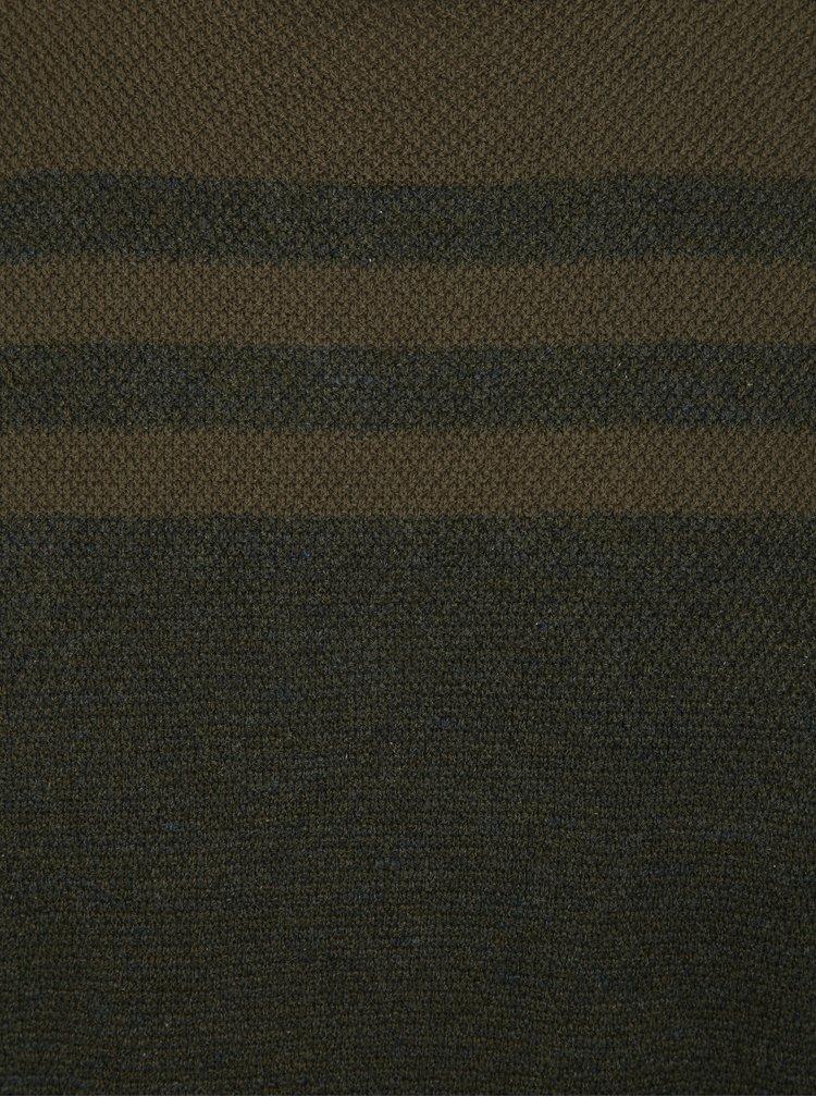 Tmavě zelený lehký slim fit svetr Blend