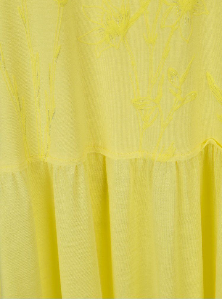 Žluté tílko s potiskem Desigual Antonette