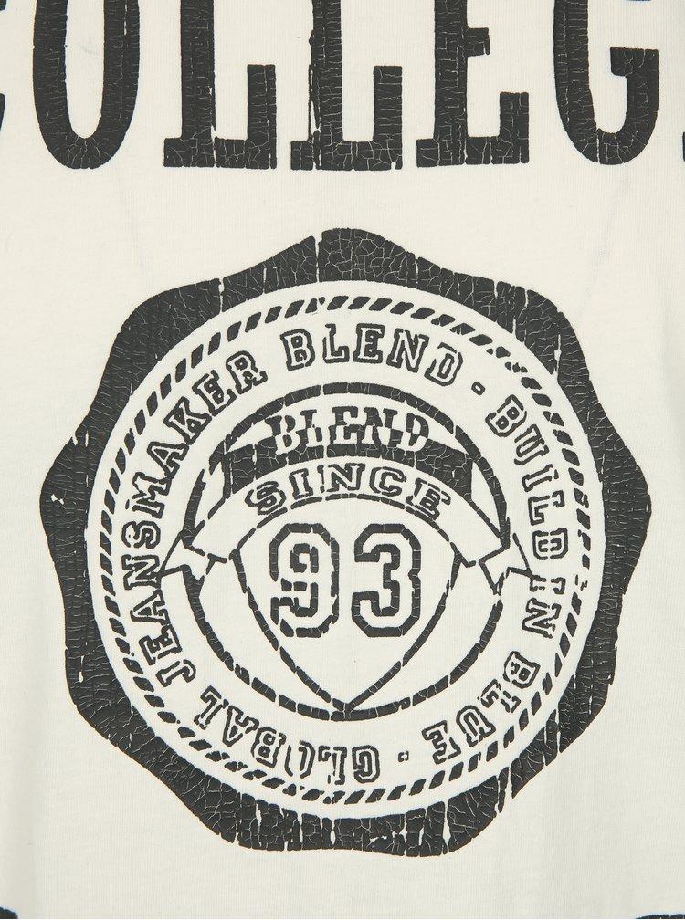 Krémové regular fit tričko s potiskem Blend