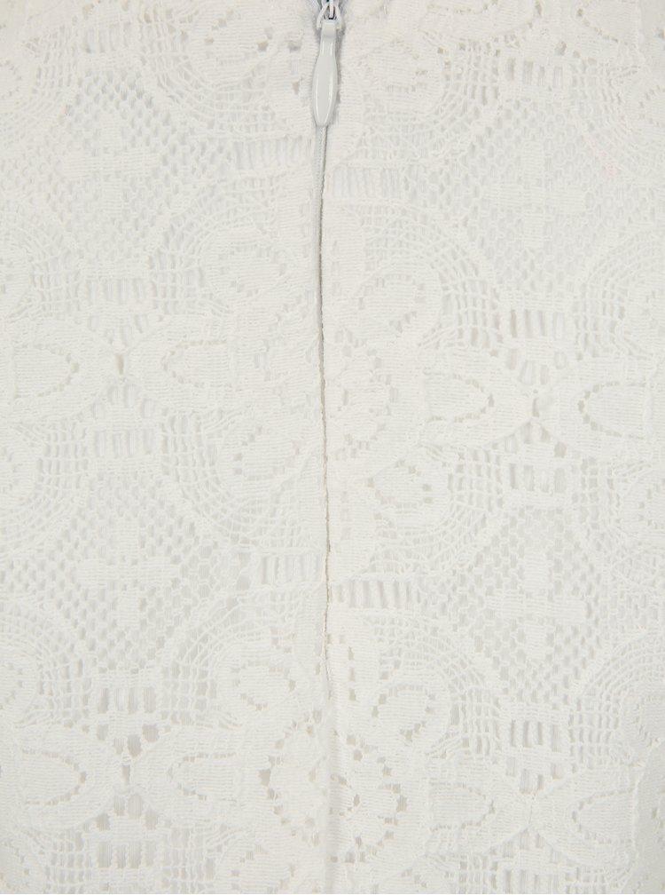 Krémové krajkové šaty s krátkým rukávem name it Fisusan