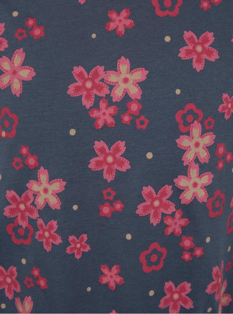 Tmavě modré květované šaty name it Velvet