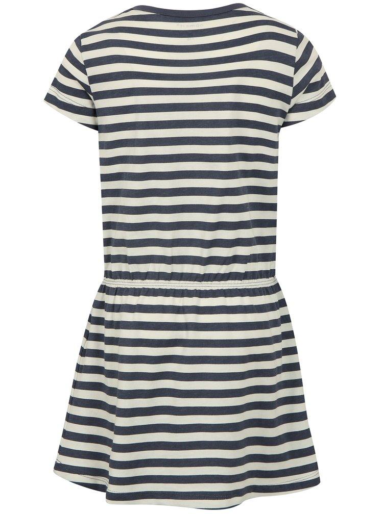 Bílo-modré pruhované šaty name it Velvet