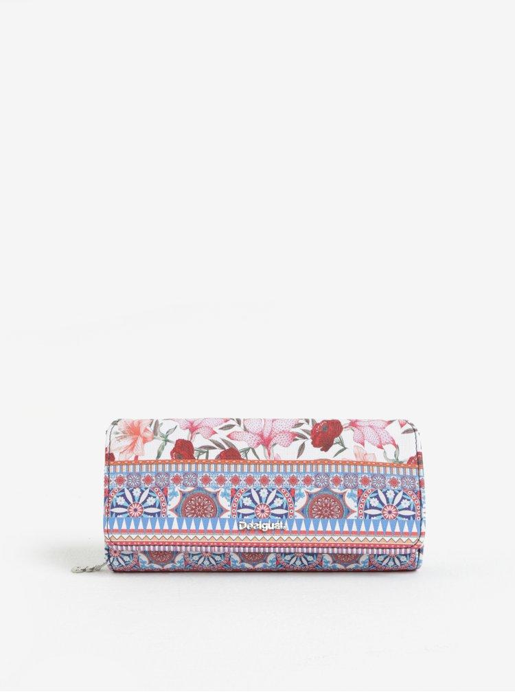 Modro-růžová vzorovaná peněženka Desigual Aria Maria