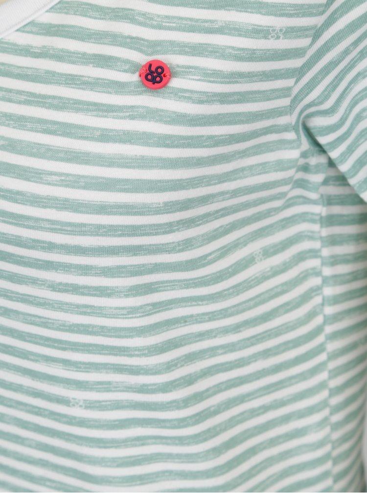 Zelené dámské pruhované tričko LOAP Bernice