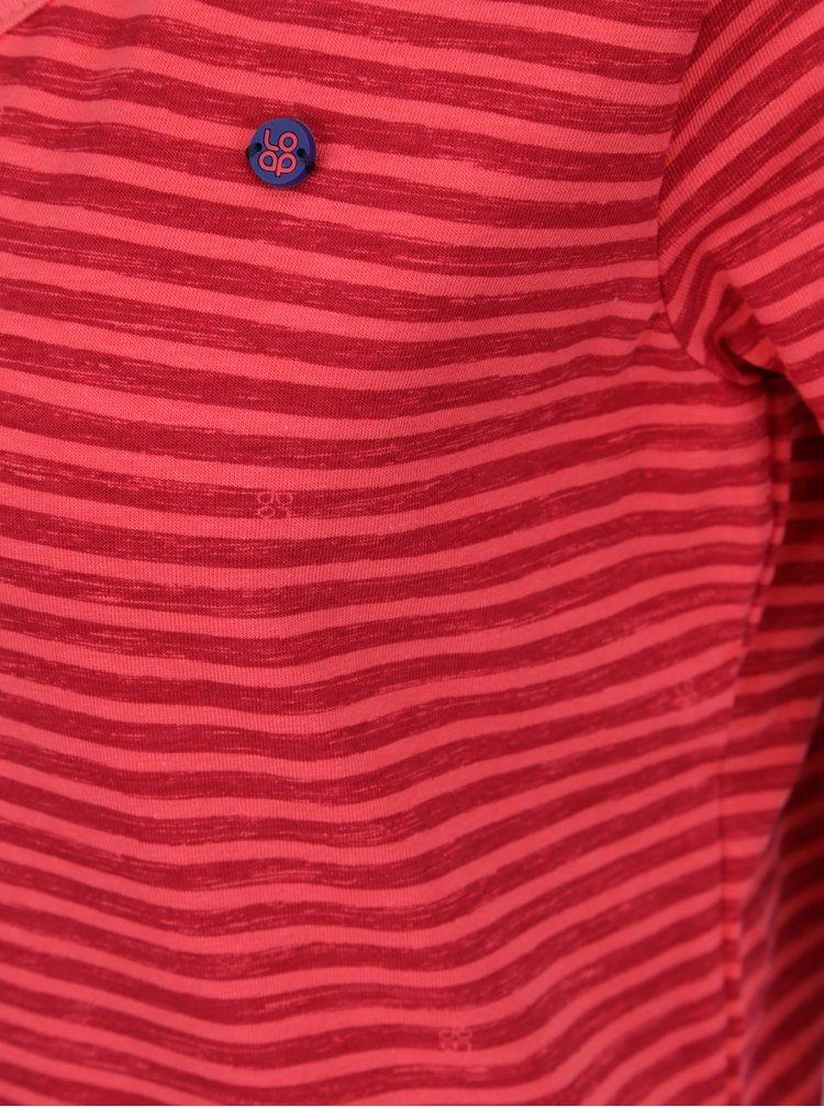 Tricou rosu cu dungi LOAP Bernice