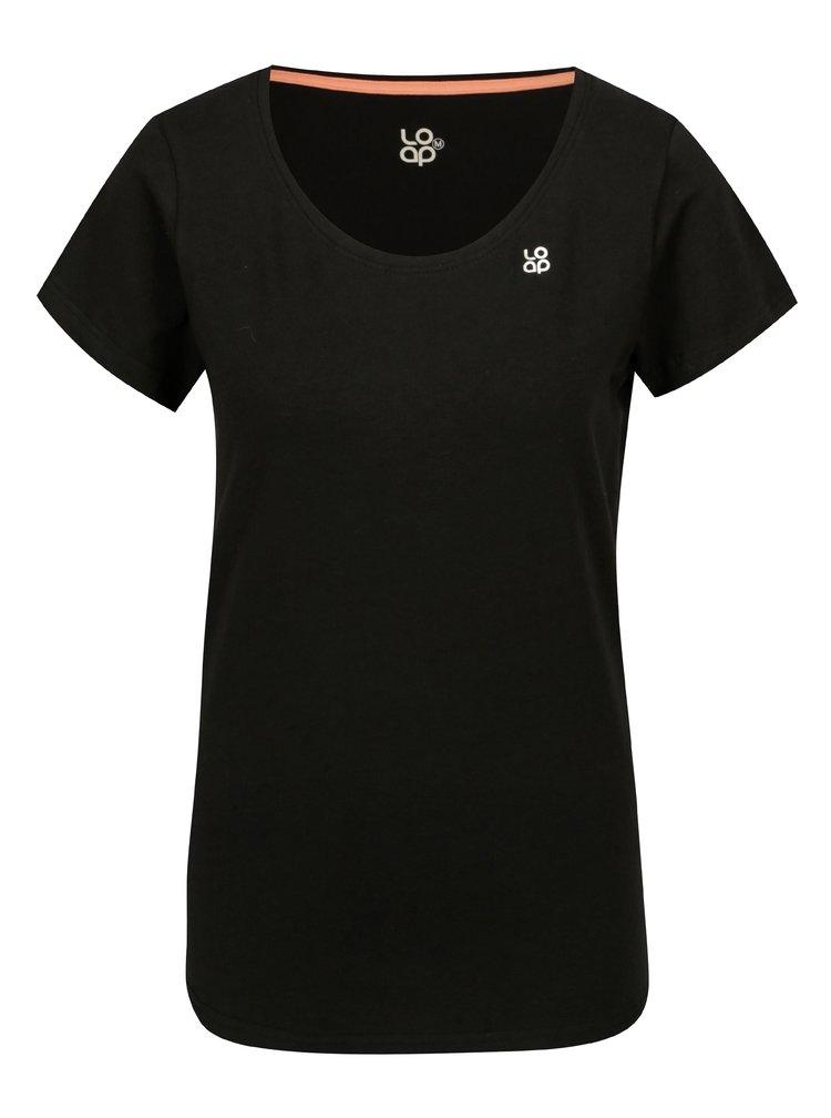 Černé dámské basic tričko s krátkým rukávem LOAP Blair