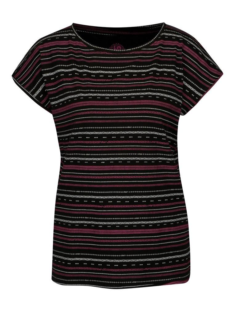 Černé dámské vzorované tričko LOAP Alia