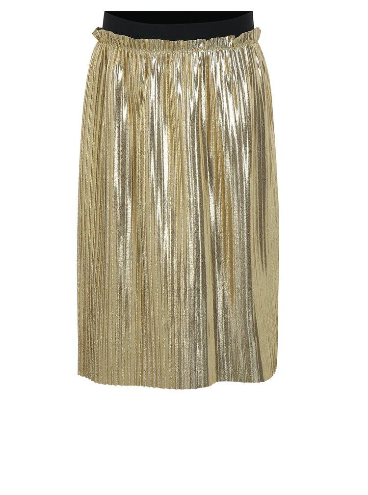Plisovaná sukně ve zlaté barvě name it Filia