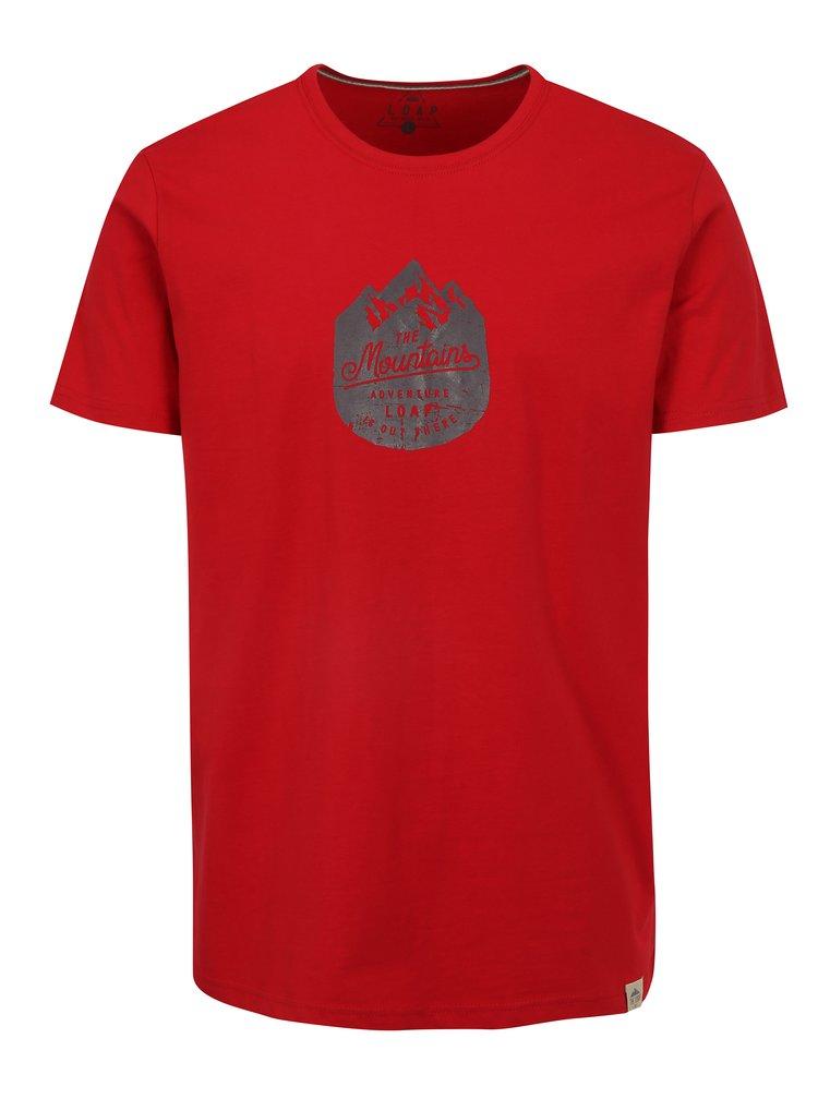 Červené pánské tričko LOAP Bessip