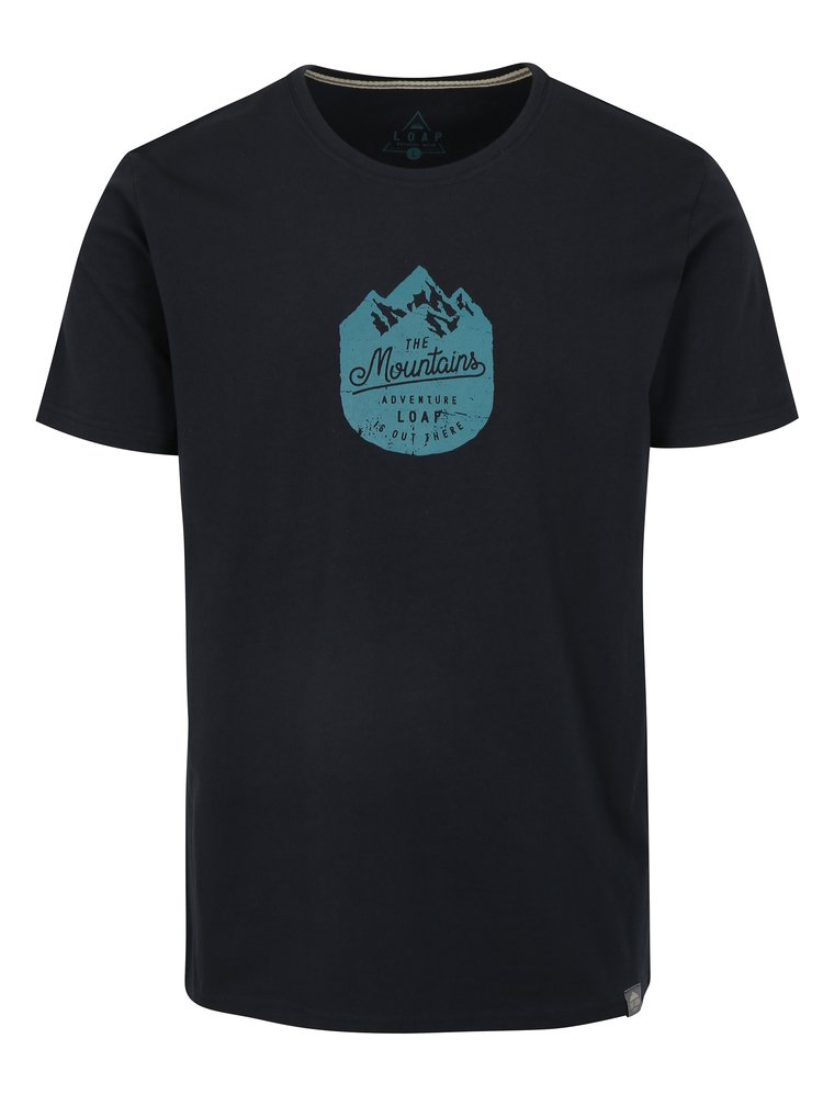 Tmavě modré pánské tričko LOAP Bessip