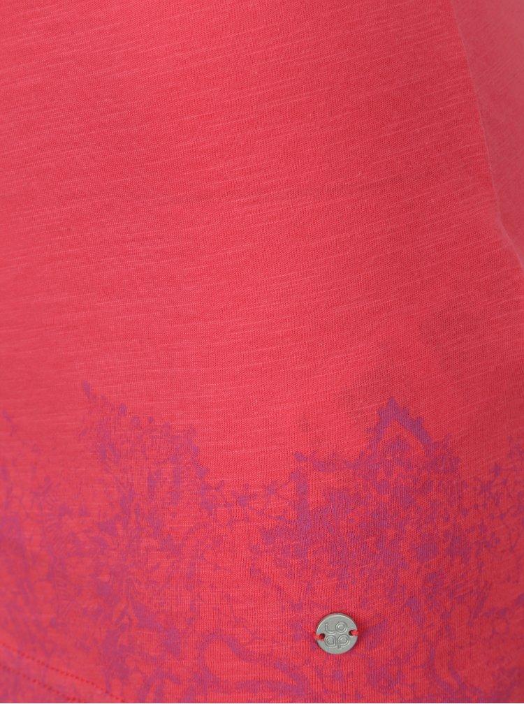 Tmavě růžové dámské tílko s potiskem LOAP Bale