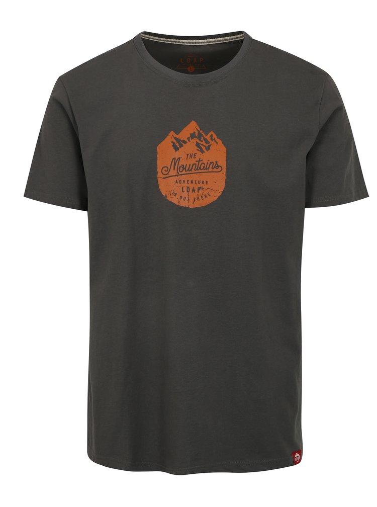Šedé pánské tričko LOAP Bessip