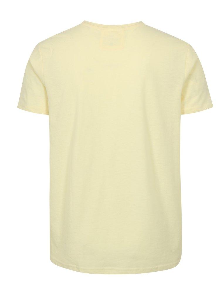 Tricou galben cu print frontal LOAP Bolon