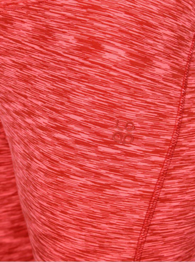 Růžové dámské žíhané 3/4 legíny LOAP Misty