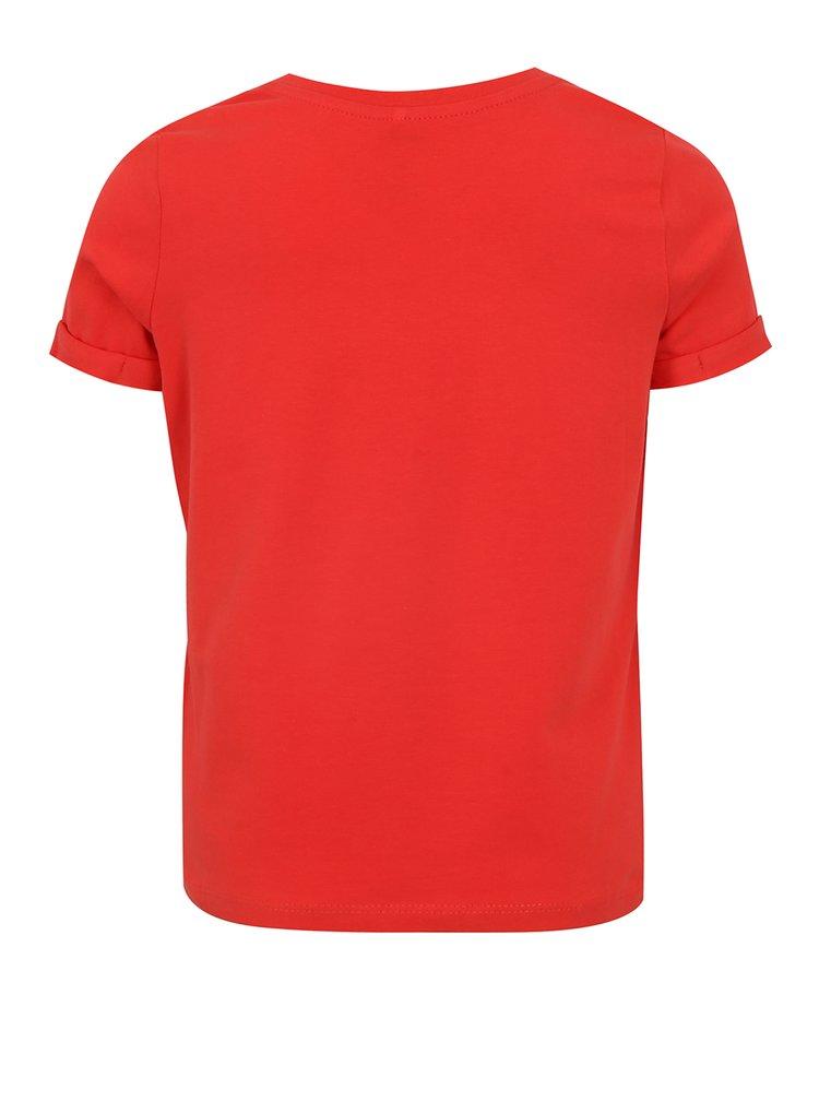 Červené holčičí tričko s potiskem name it Sandy