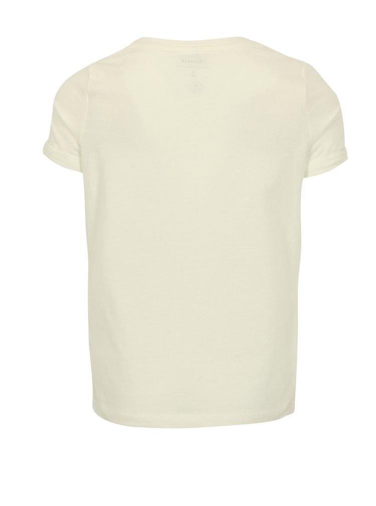 Krémové holčičí tričko s potiskem name it Sandy