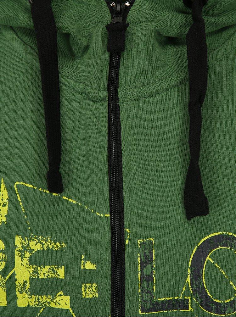 Zelená pánská mikina s kapucí LOAP Doroso