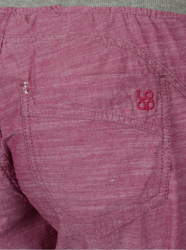 Růžové dámské kalhoty LOAP Nadeta