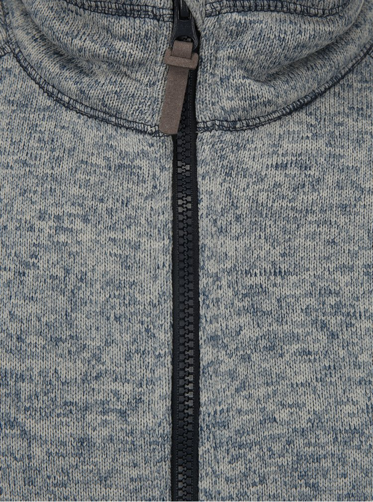 Jacheta tricotata albastru melanj pentru barbati LOAP Gareth