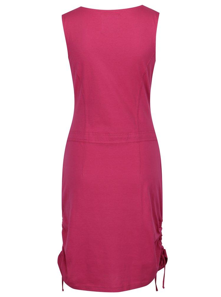Rochie roz inchis cu sireturi laterale  LOAP Nela