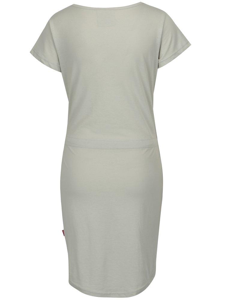 Světle šedé vzorované šaty s kapsami LOAP Bubba