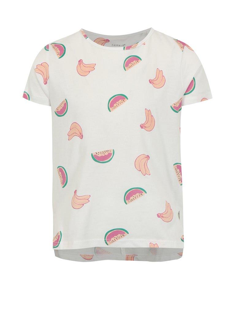 Bílé holčičí tričko s potiskem name it Via
