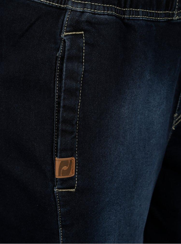 Blugi 3/4 bleumarin cu terminatii elastice pentru femei  LOAP Devora