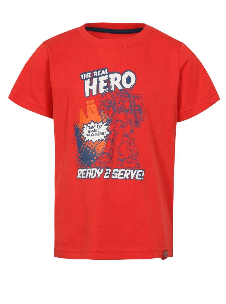 Červené klučičí tričko s potiskem LOAP Idealo