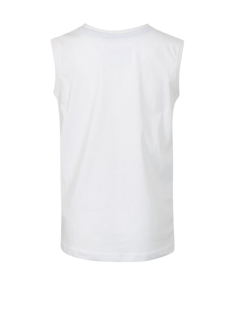 Bílé klučičí tričko bez rukávu LOAP Isar