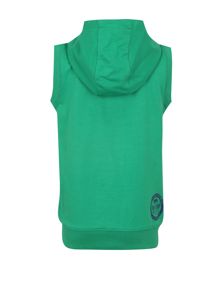 Zelená klučičí mikinová vesta s kapucí LOAP Hytek