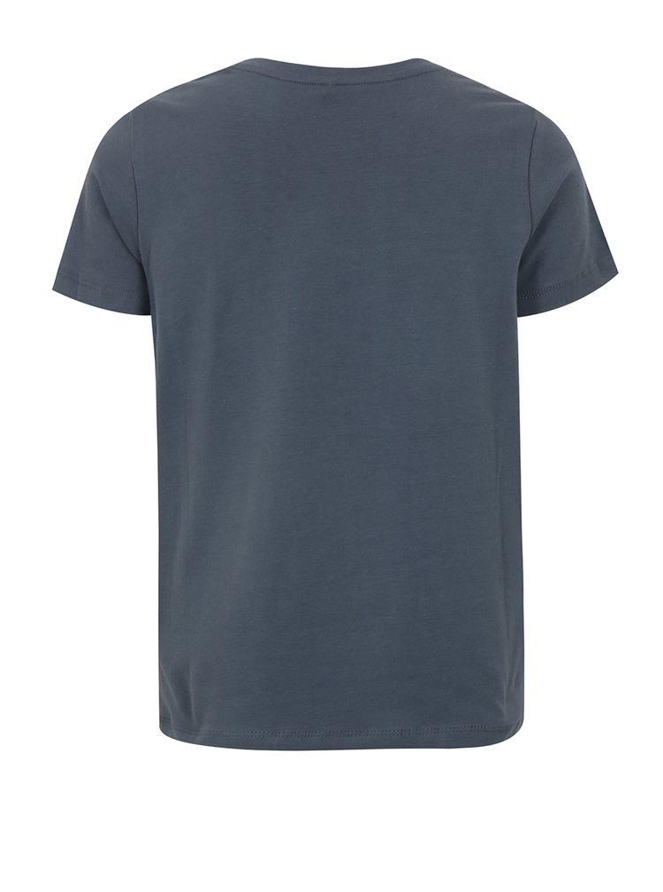 Tmavě modré klučičí tričko s potiskem name it Sam