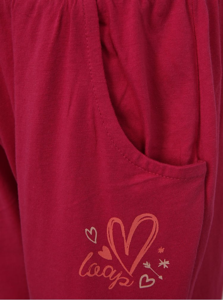 Růžové holčičí tepláky s kapsami LOAP Irba